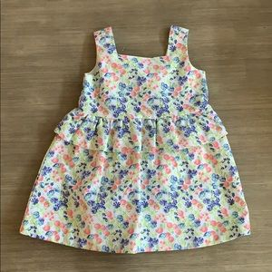 Janie and Jack floral dress 12-18M. NWT!